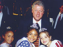 President Clinton and Kids