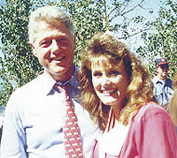 Clinton and Mrs. Wyoming