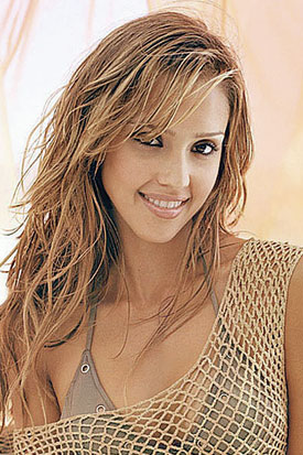 Jessica Alba = Long Loose Curls