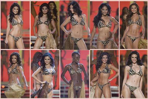 Miss Universe 2007 Top Swimsuit Competitors