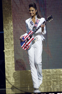 Miss USA Rachel Smith in an Elvis Costume