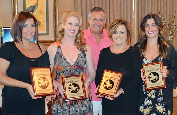 Pageantry CEO Carl Dunn with (L-R) Gozde Arisoy, Hillary Stone, Tammy Fischer, and Amanda Ellis.