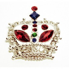 Round Crown Fashion Brooch